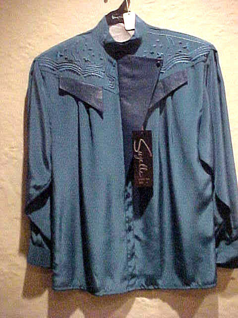 RARE VINTAGE LADIES SUZELLE POLYESTER BLOUSE DARK TEAL DETAILED BEAUTIFUL SIZE 4