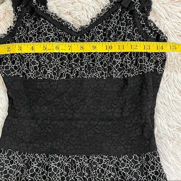 Betsey Johnson lace overlay Corset Dress Vintage - image 5