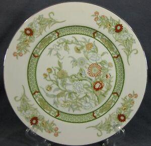 Mikasa-Kabuki-L9011-Dinner-Plates-M2-Green-Band-Floral