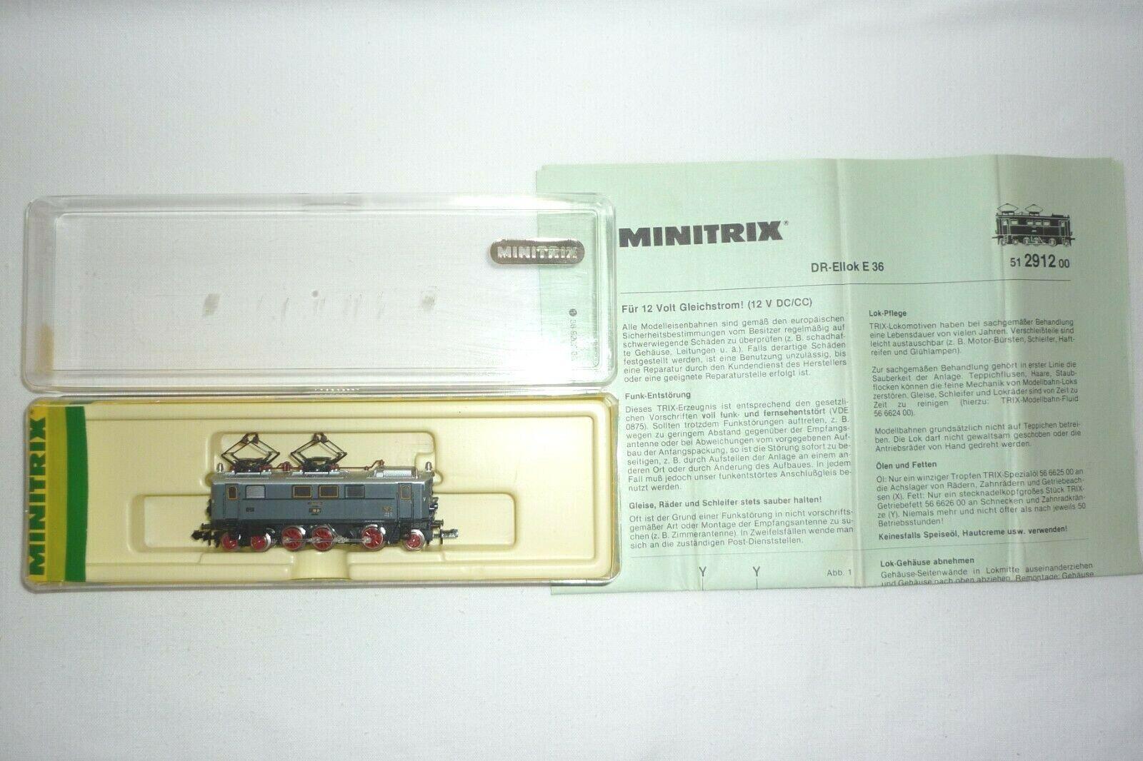 MINITRIX - SPUR N - 51 2912 00 ELEKTROLOK  DR E 36 02  OVP (15.EI-61)