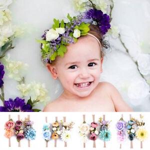 0aee7d40154 3Pcs Kids Baby Girls Toddler Photo Prop Lace Flower Hair Band ...
