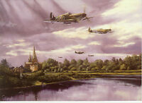 Spitfire Royal Airforce RAF Fighter plane Lichfield Cathedral Art d'aviation