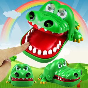 3PCS Large Crocodile Mouth Dentist Bite Finger Game Funny Toy Kids Children Gift