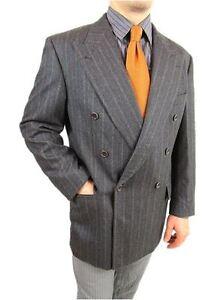 HUGO BOSS AL CAPONE Men Wool Double Breast Tailcoat Tweed Jacket Blazer 42R AS17