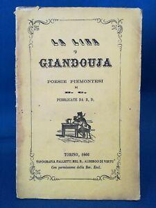 La-lira-039-d-Giandouja-Poesie-piemontesi-Dialetto-piemontese-Gianduia-1866
