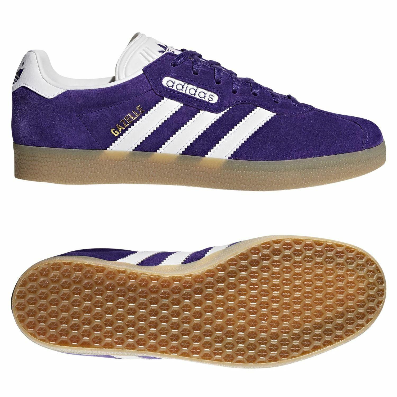 Adidas ORIGINALS HOMBRE Gazelle Super Zapatillas Zapatos Retro Morado Nuevo