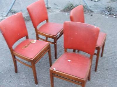 Vintage Retro Dining Chairs Set of Four. Kitchen Dining Chair set.