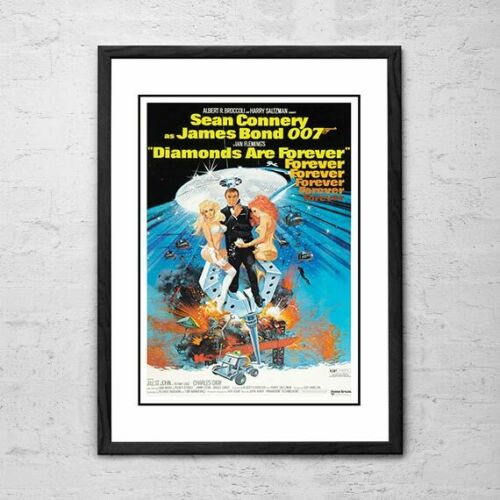 FRAMED James Bond Movie Posters9 Different James Bond Posters to choose from!