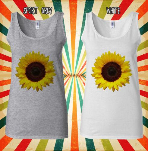 Sunflower Plant Flower Funny Cool  Men Women Vest Tank Top Unisex T Shirt 2109