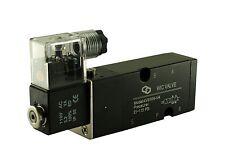 "1/4"" Pneumatic 4 Way Namur Base Mount Electric Directional Control Valve 24V DC"
