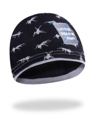 Boys Kids Child Spring//Autumn Cotton Print Hat Cap Warmer Beanie 4-5 Years Ants