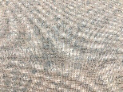 "Vintage Linen Petite Damask  Grey 140cm//54/"" Curtain//Craft Fabric"