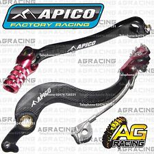 Apico Black Red Rear Brake & Gear Pedal Lever For Honda CRF 450X 2012 Motocross