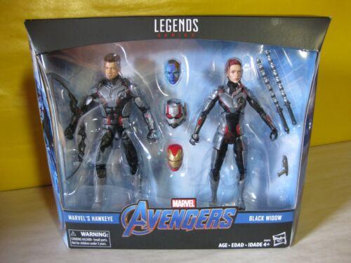 """sous emballage 2018 Marvel Legends Avengers Issue TARGET EXCLUSIVE 6/"""" Hawkeye//Veuve Lot de 2 En parfait état"""