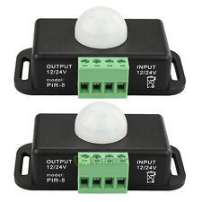 2x DC 12V/24V Body Infrared PIR Motion Sensor Switch LED Light Strip Automatic