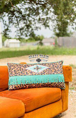Crazy Casa Hometown Horizon Pillow by Crazy Train NWT - Aztec Serape