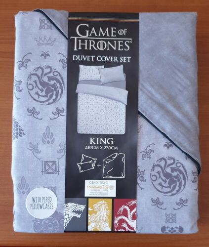 Primark Game of Thrones Single Double King Reversible Douvet Cover Set