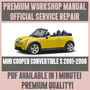 WORKSHOP-MANUAL-SERVICE-amp-REPAIR-GUIDE-for-MINI-COOPER-CONVERTIBLE-S-2001-2006
