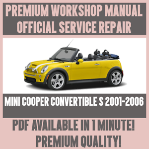 workshop manual service repair guide for mini cooper convertible s rh ebay com 2003 Mini Cooper Manual Blue 2006 Mini Cooper Service Manual