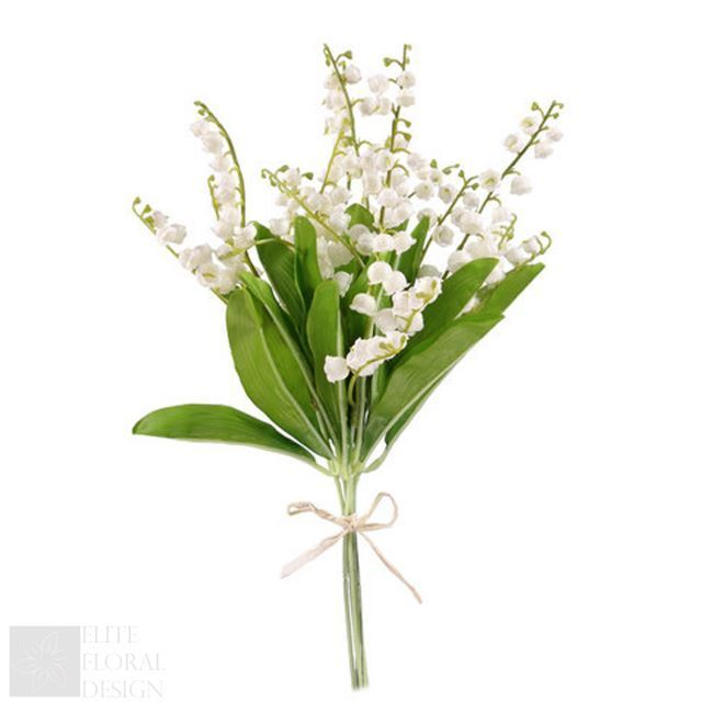 Bunch of 6 Lily of The Valley Stems Artificial Flowers