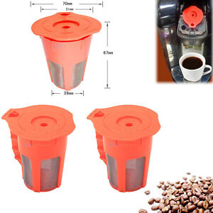 3Pcs For Keurig 2.0 K-Cups K-Carafe Refillable Reusable Coffee Filter Pod Combo eBay
