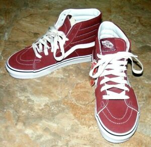 9d08ea1e1823 VANS Off the Wall Red Unisex High Top Sneakers Mens 5.5 Womens 7 ...