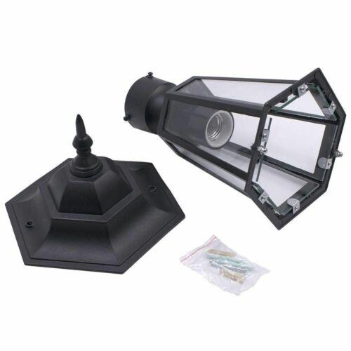 Post Pole Light Garden Patio Driveway Yard Retro Lantern Lamp Fixture Home Decor