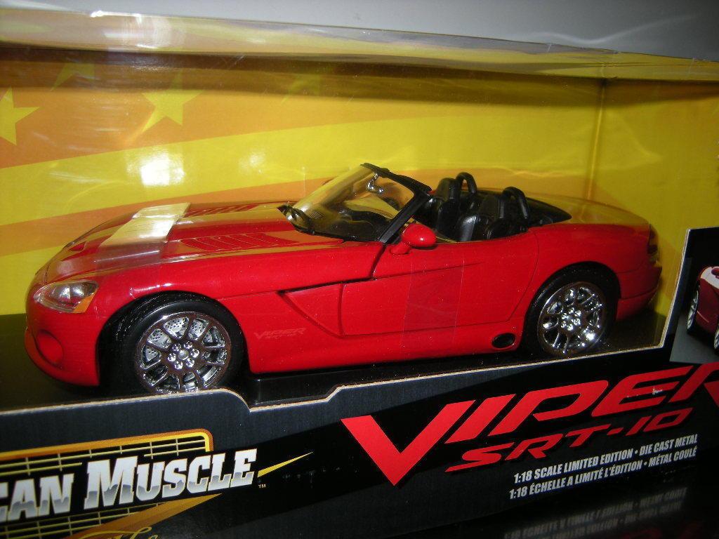 1 18 ERTL American Muscle DODGE VIPER srt-10 ROSSO rosso IN SCATOLA ORIGINALE