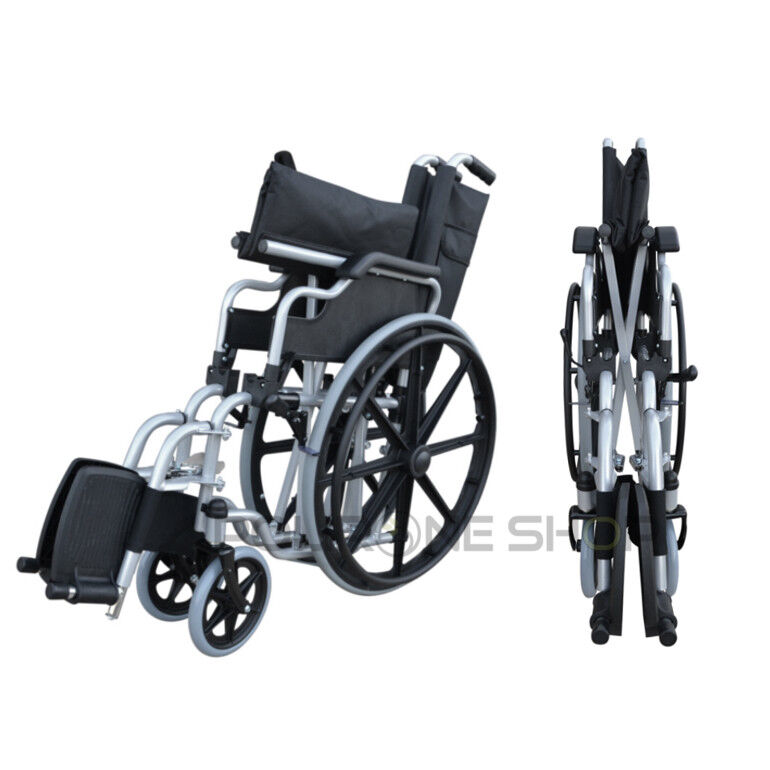 s l1600 - DELO Silla de ruedas manual plegable y autopropulsable para anciano minusválido