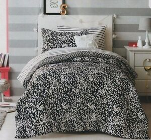 Details About New Bed In A Bag Black White Dots Twin Full Queen 6 8piece Set Comforter Sheets