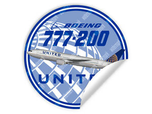 UNITED-AIRLINES-BOEING-B777-B-777-DECAL-STICKER-3-5-x-3-5-in-9-x-9-cm