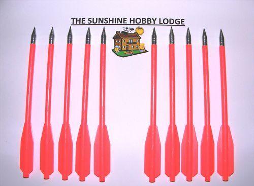 Crossbow boulons acier tipped ensemble nylon arbres ensemble tipped de 10 nouveaux pour 50-80lb pistolet arcs 636298
