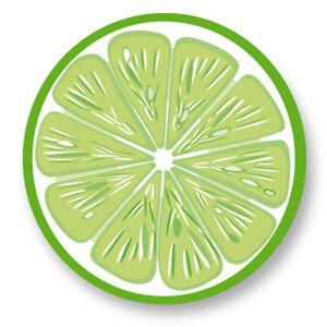 Porte clé Keychain Ø45mm Citron Vert Lime Citrus Fruit Agrume Vitamine