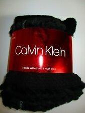 f890ac9db9b item 3 NWT CALVIN KLEIN 3PC SET HAT LOOP SCARF TOUCH GLOVE BLACK -NWT CALVIN  KLEIN 3PC SET HAT LOOP SCARF TOUCH GLOVE BLACK