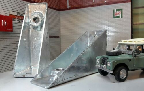 Land Rover Series 2 2a 3 88 SWB SeatBelt Galvanised Anchor Mounting Brackets