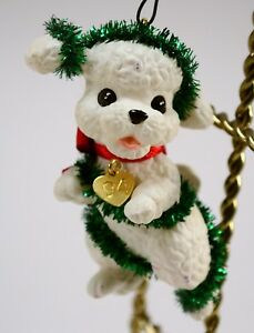 Crown Christmas Ornaments.Details About Vintage 1994 Crown Hallmark Puppy Love Christmas Ornaments Poodle Dog Tinsel
