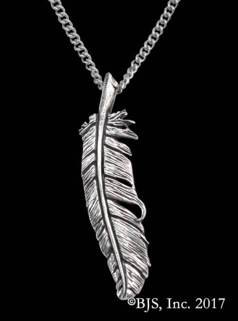 Vulture Feather Pendant, Lila Bowen, Wake of Vultures Jewelry, The Shadow Series