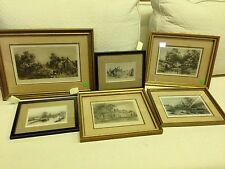 6 Etchings By Margaret Taylor Fox Early Pennsylvania Artist Erie Canal Mt Vernon