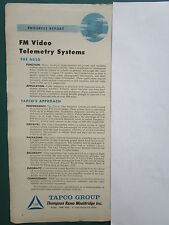 1/1960 PUB TRW TAPCO GROUP FM VIDEOS TELEMETRY WEAPONS SYSTEMS ORIGINAL AD
