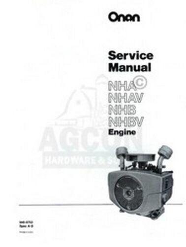 Heavy Equipment Manuals & Books ONAN NHA NHAV NHB NHBV Engine ...