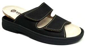 DAVEMA CIABATTE pantofole uomo art1708 NERO plantare estraibile slippers