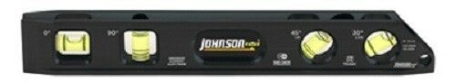 "Johnson Levels 1411-0900 4 Vial Billet Torpedo Level Magnetic 9/"""