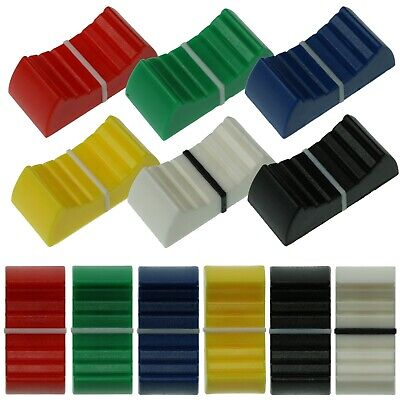 4mm & 8mm Fader Caps - 6 Colours - Mixer Slider Pot / Potentiometer Knobs Lassen Sie Unsere Waren In Die Welt Gehen