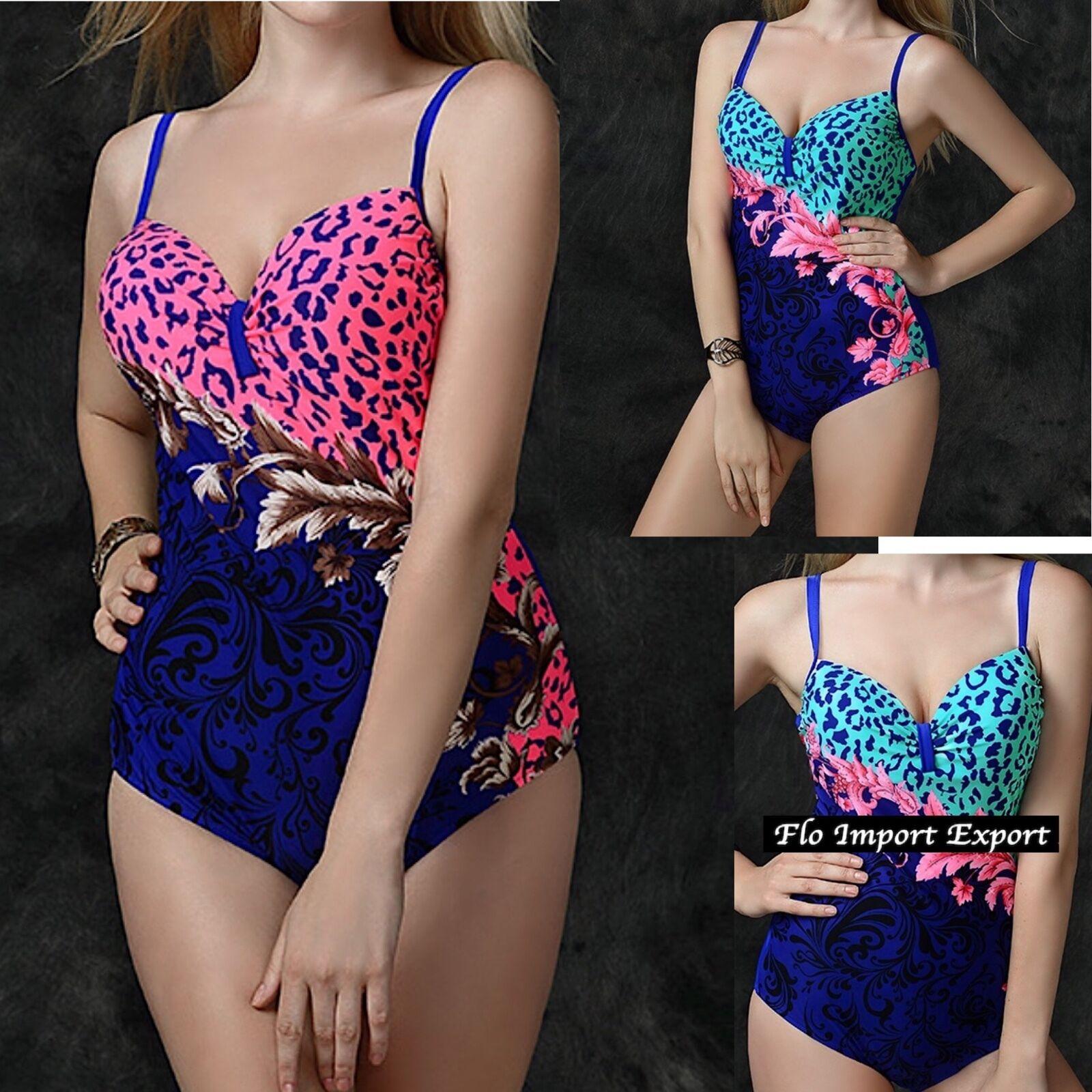 Costume da Bagno Intero Donna Taglie Grandi OverDimensione Swimsuit Monokini WP0017
