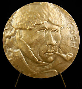 Medal-Vincent-Van-Gogh-Self-Portrait-amp-on-the-road-Tarascon-68mm-Medal