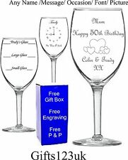 Personalised Wine Glass,Birthday Gift,18th 21st 30th 40th 50th 60th 70th 80th