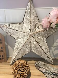 40cm Large Wooden Barn Star Twine For