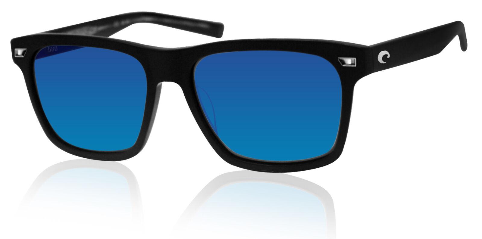 Costa Del Mar Aransas Sunglasses Matte Black//Green Mirror 580Glass