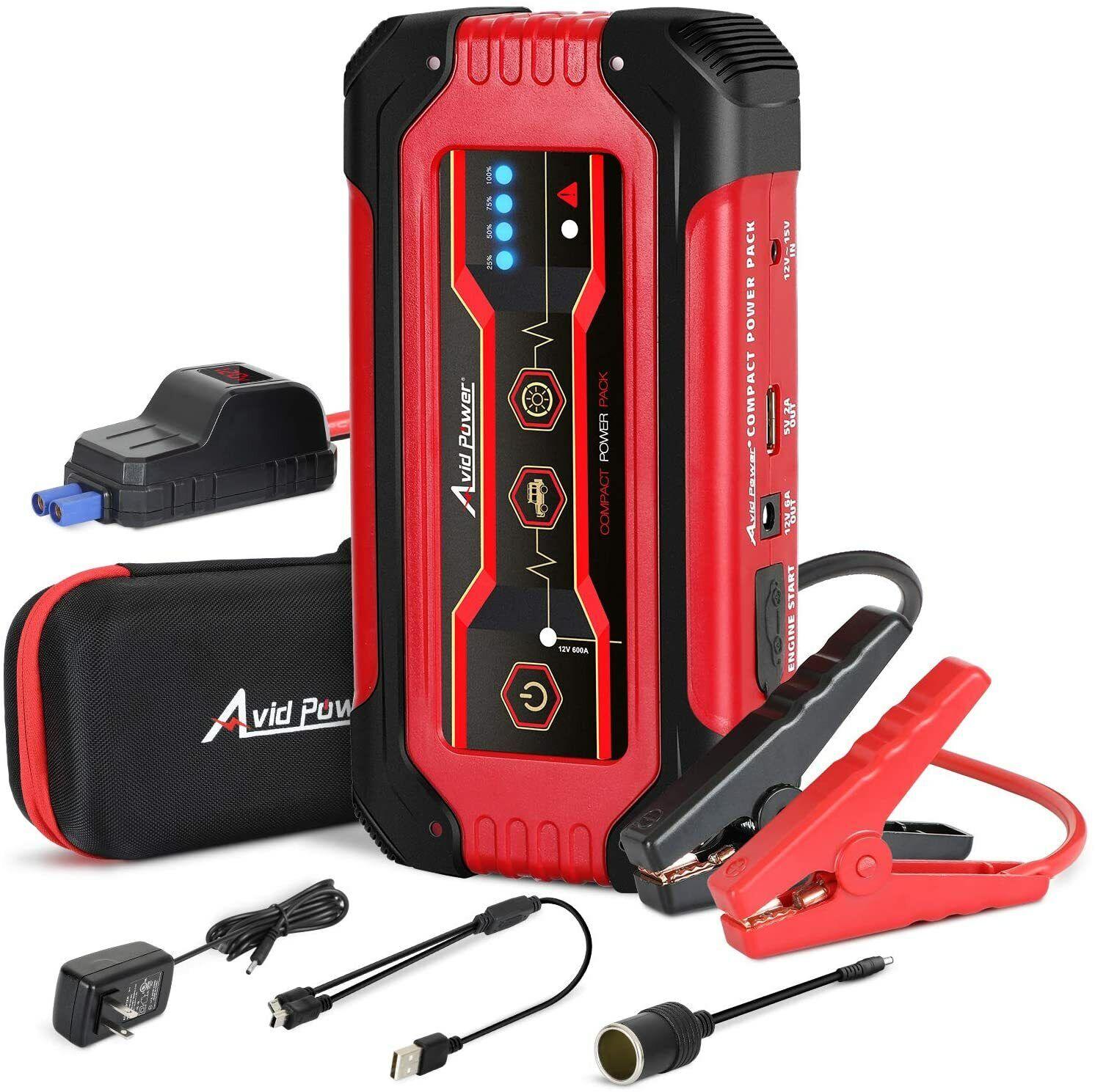 ⚡️ AVID 600A Peak 15,000mAh 12V Portable Car Jump Starter Battery Booster SEALED