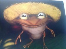 Cogui en mata de Guineo Cute Little Frog In Banana Tree Puerto Rico Print